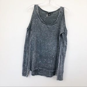 UO Sparkle And Fade Top Mineral Wash Cold Shoulder